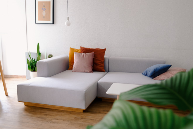 Sofa L-Form grau